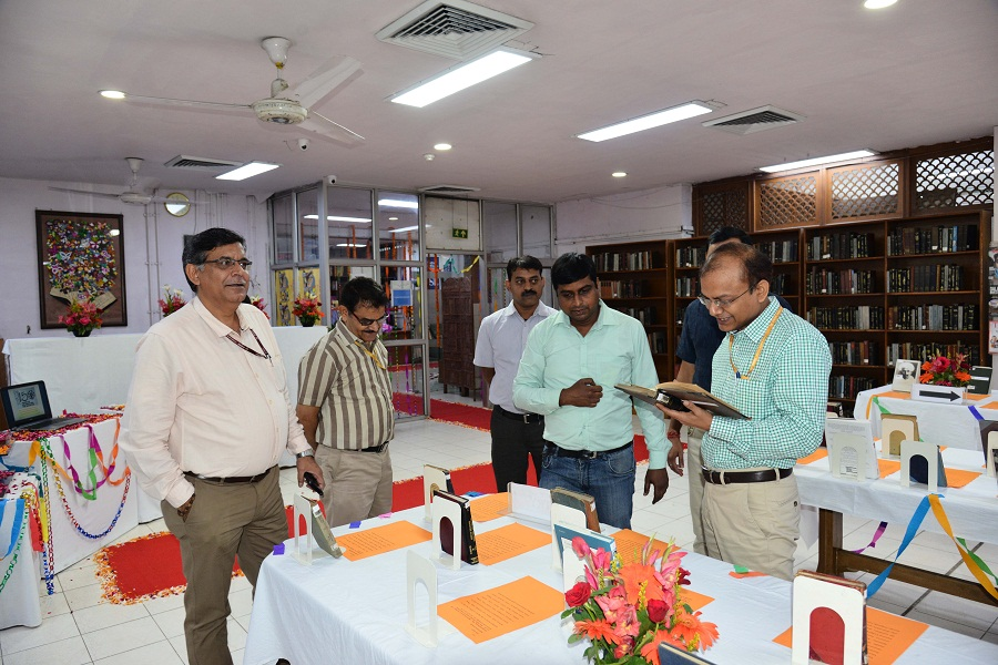 Exhibition of Books on Mahatma Gandhi in Central Secretariat Library